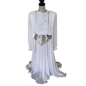 Vintage 80s White Witch - Good Witch Cosplay Dress